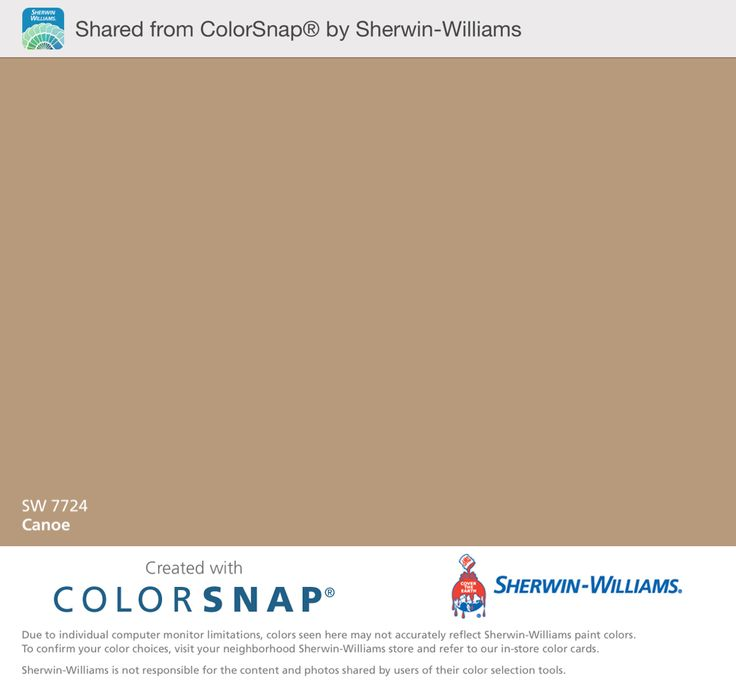 Canoe Sw 7724 Paint Color By Sherwin Williams Paint