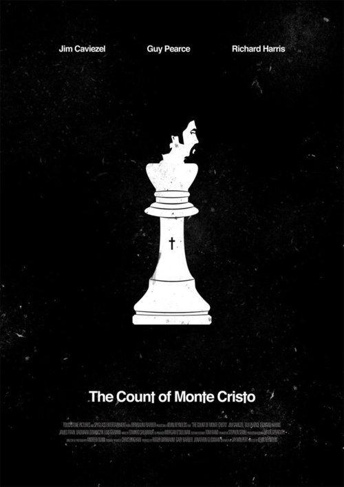The Count of Monte Cristo: Minimalist Posters, Cristo 2002, White Spaces, Minimalist Movie, Toms Miatk, Montecristo Kevin, The Counted Of Monte Cristo, Counted Of Monte Cristo Movie, Minimal Movie Posters