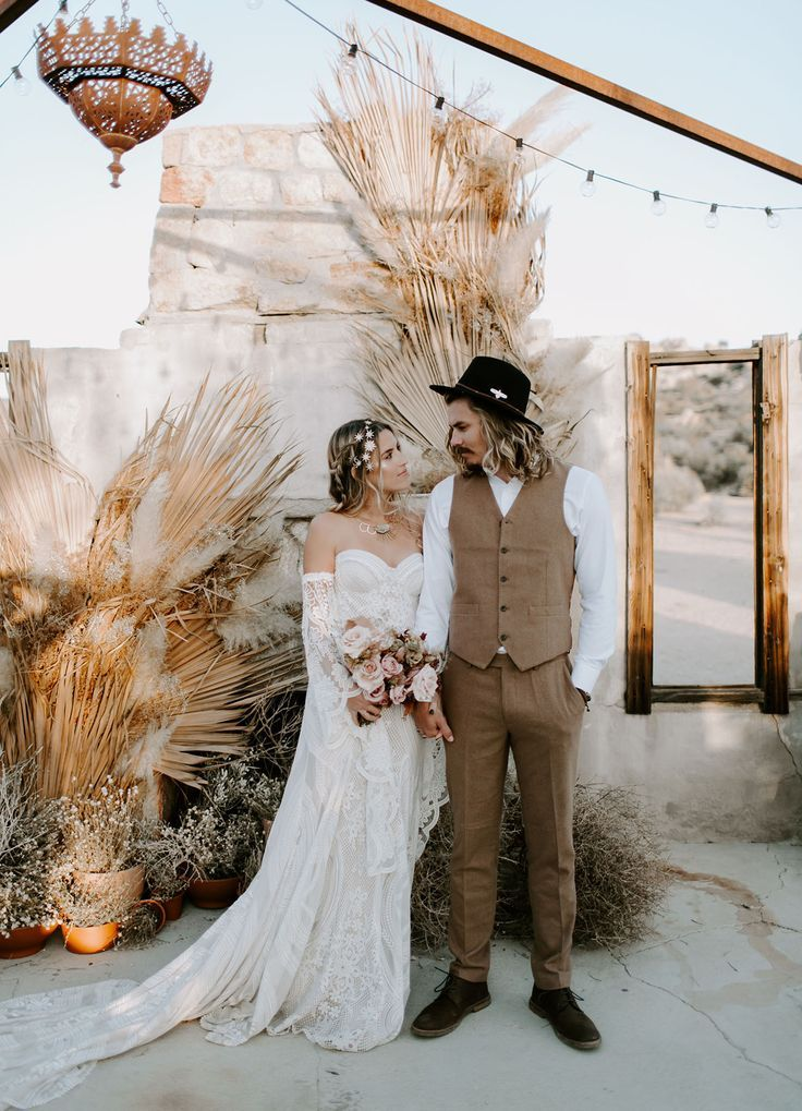Wild Ones Desert Dried Florals Wedding Inspiration at The Ruin Venue