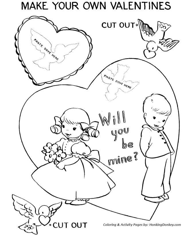 Printable Valentine Day Coloring Page