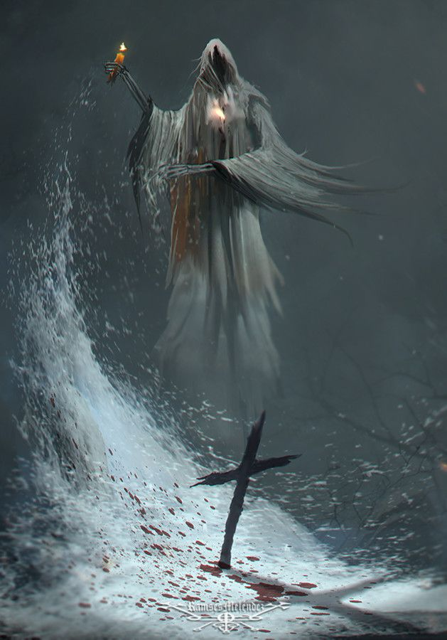ArtStation - Paranormal Oath, Ramses Melendez | Santa muerte | Dark