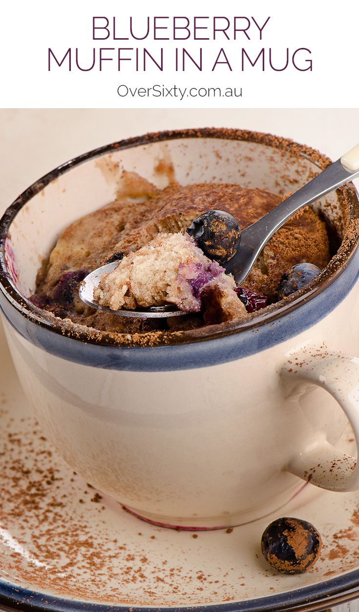 Blueberry Muffin in a Mug - Craving blueberry muffins but can't be bothered with the mess? This single serving, super easy microwave blueberry muffin is for you.