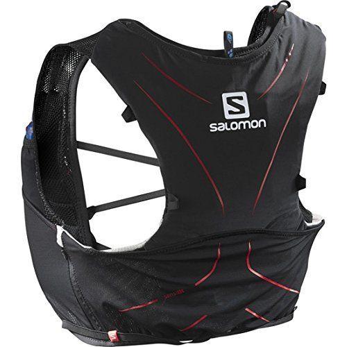 Salomon – Adv Skin – Sac à dos multifunction – Mixte Adulte: ADVSKIN5SETM Noir/Matador Taille: XL Unisexe – Adulte très léger pour la…