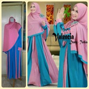 Busana Gamis Muslim Valencia-dusty-turkish