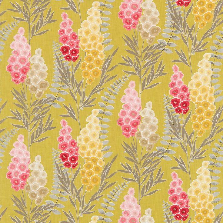 Harlequin Delphine Fabrics - Delphinia - Lime, Magenta & Neutral - available from Vanilla Interiors - www.vanillainteriors.co.uk