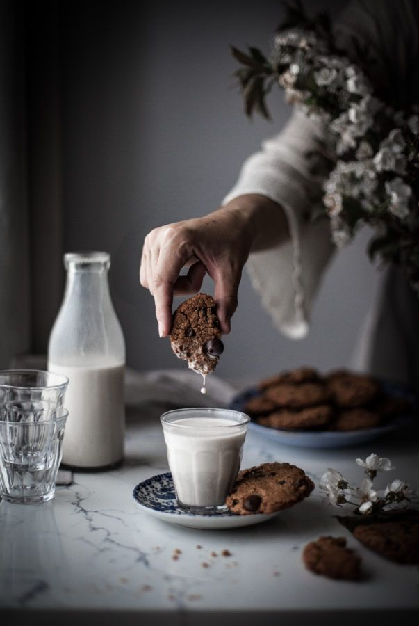 Almond Milk Chocolate Chip Cookies - The Kitchen McCabe
