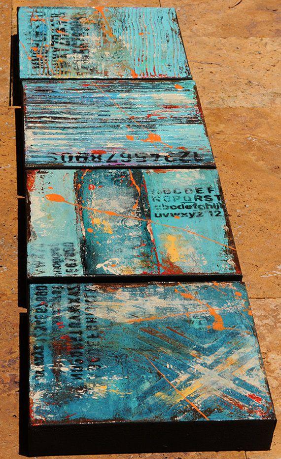 Urban art Paintings por erinashleyart en Etsy