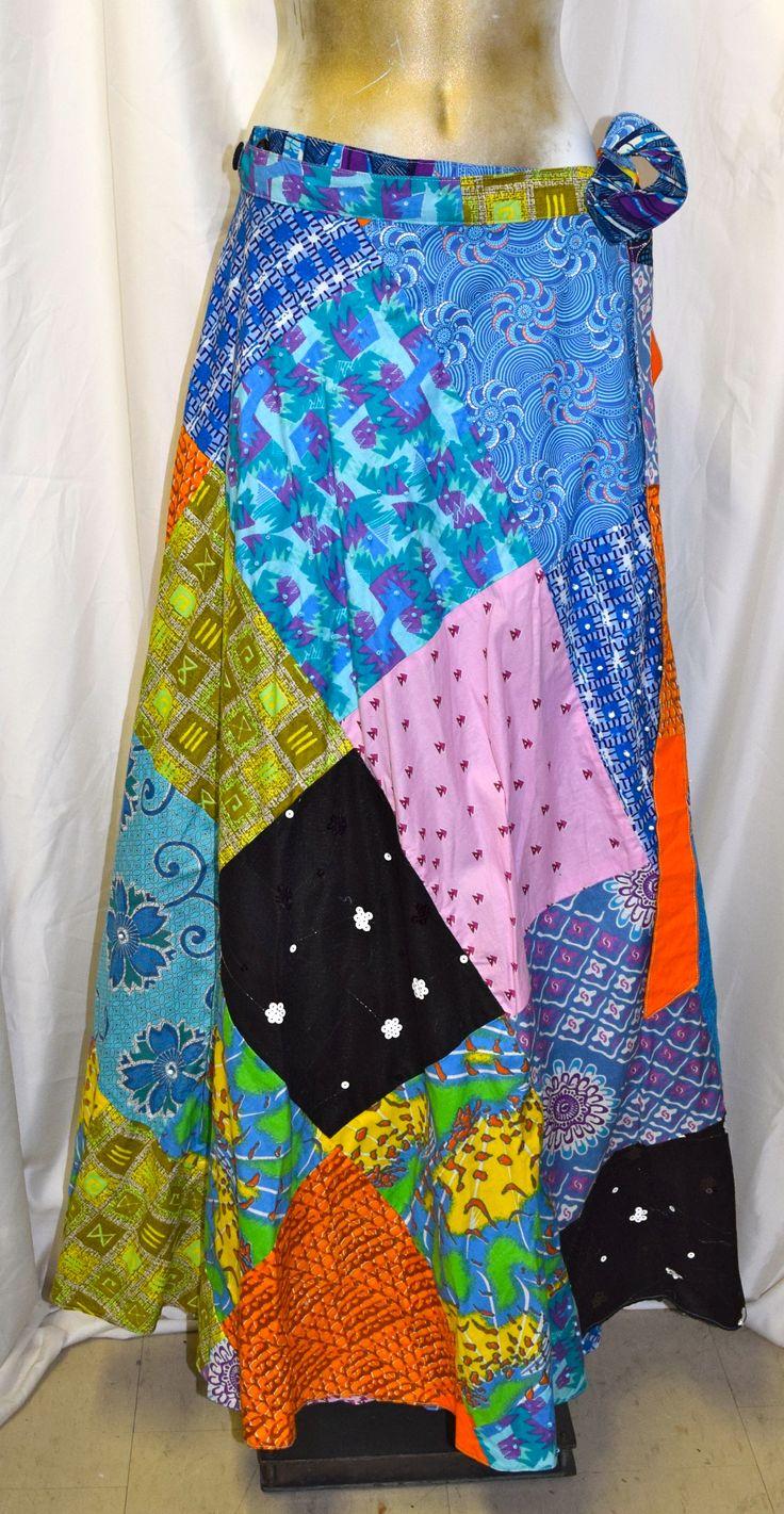 Vintage Multi Colour Quilt Style Long Skirt
