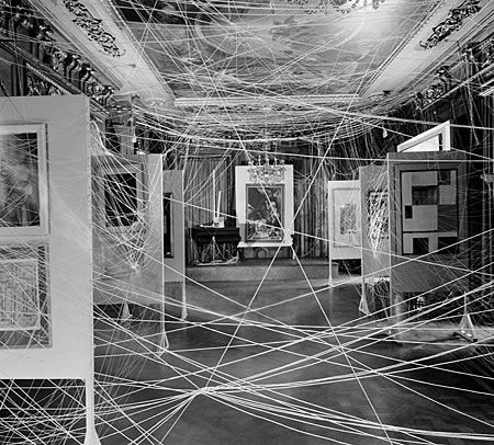 Marcel Duchamp - Marcel Duchamp's iconic installation Sixteen Miles of String (above) was conceived for the influential First Papers of Surrealism exhibition held in New York in 1942.