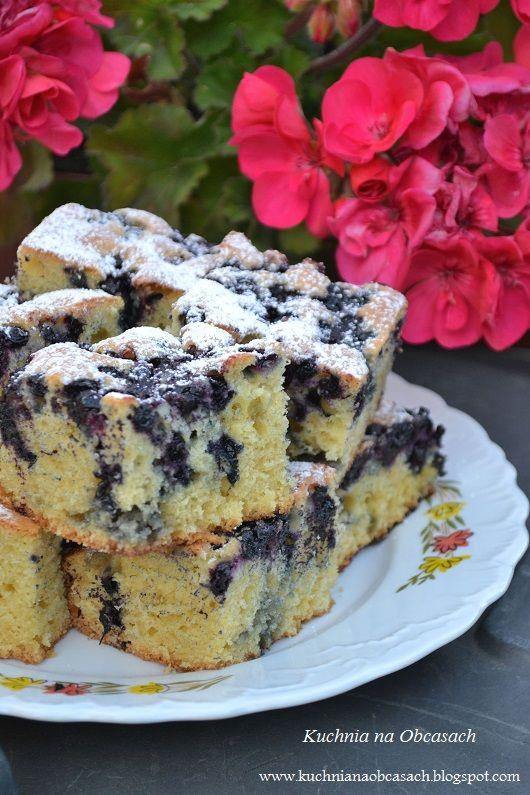kuchnia na obcasach: Ciasto z jagodami