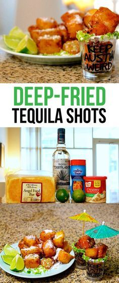 Satisfying your drunk munchies with these Deep Fried Tequila Shots
