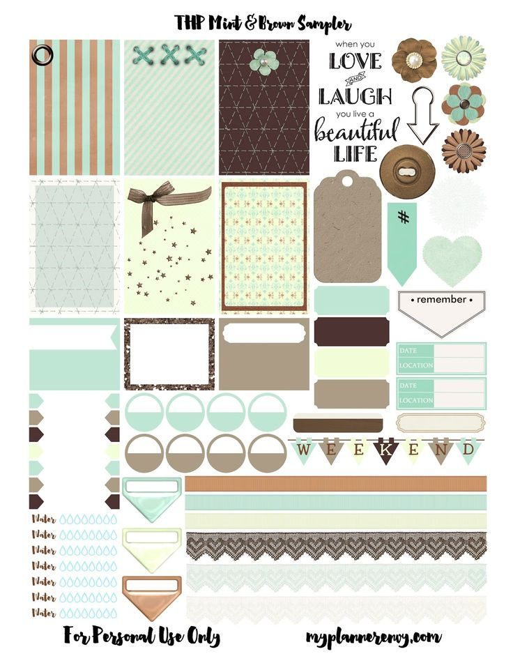 THP Mint & Brown Sampler | My Planner Envy