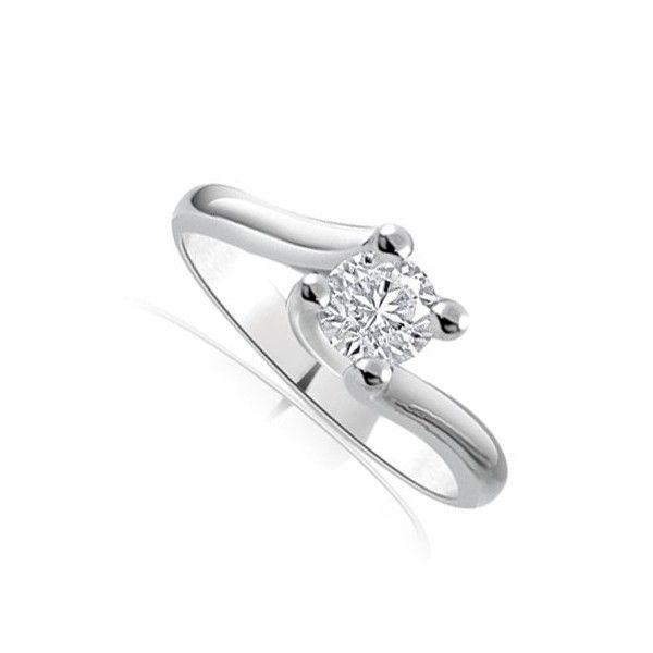ANELLO DI FIDANZAMENTO SOLITARIO CON DIAMANTE 18CT ORO BIANCO | Solitario con diamante taglio brillante montato a griffe. L`anello è disponibile in 18ct oro bianco, 18ct oro giallo e in platino. Il peso dei carati del diamante può variare da 0.20ct a 0.60ct ed il colore da F ad I e la purezza da VS1 ad SI1. L`anello è accompagnato dal certificato del diamante. Perfetto per fidanzamento, matrimonio o anniversario e come regalo nel giorno di San Valentino.