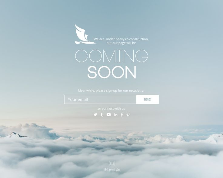 Coming soon UI Design