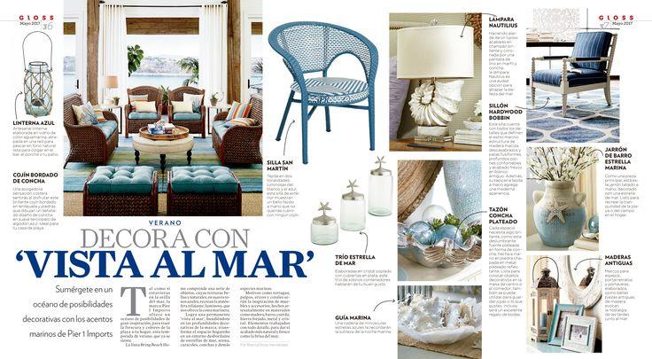 Decora con 'vista al mar' Especial de decoracion con motivos marinos para la revista Gloss Culiacán
