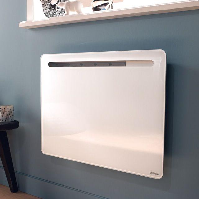 Radiateur électrique Castorama promo radiateur pas cher, achat Panneau rayonnant BLYSS Skilak Blanc 1000 W prix promo Castorama 179,00 € TT au lieu de 199.90 €