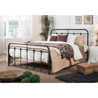 Giselle Antique Dark Bronze Graceful Lines Victorian Iron Metal King Bed by TRIBECCA HOME | Overstock.com Shopping - The Best Deals on Beds
