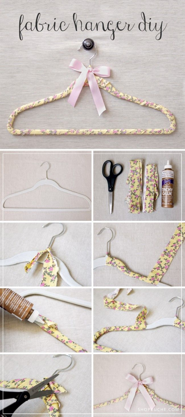 Learn how to make your own DIY Fabric Hanger on our blog! A sweet personal touch to hang your beautiful wedding dress on.