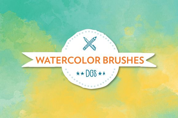 Watercolor Brushes by The Digital Goodness Shop on Creative Market