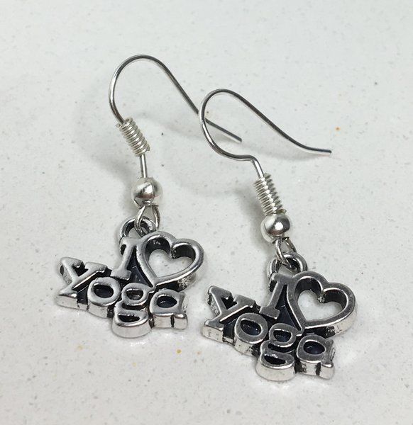 4.99$ 'I Heart Yoga' Earrings | Motivational Fitness Jewelry - Miss Fit Boutique