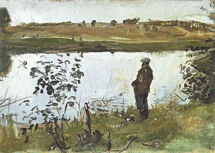 В.Серов - Коровин на берегу реки, 1905 год. ГРМ