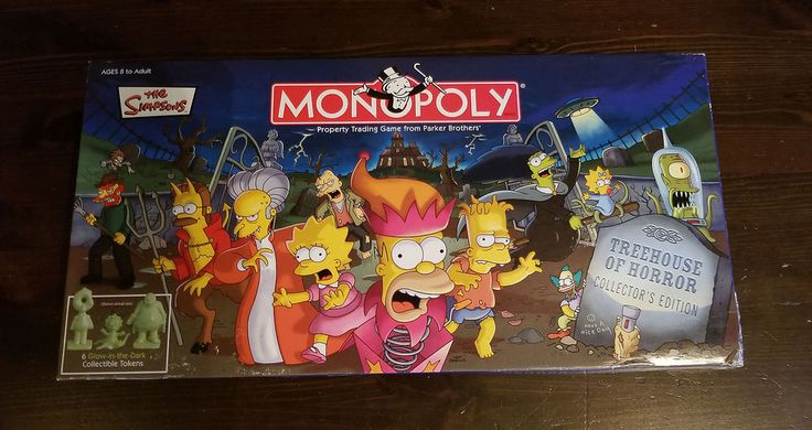 NEW Simpsons Monopoly Treehouse Horror Collector's Edition COMPLETE SEALED PARTS #Hasbro