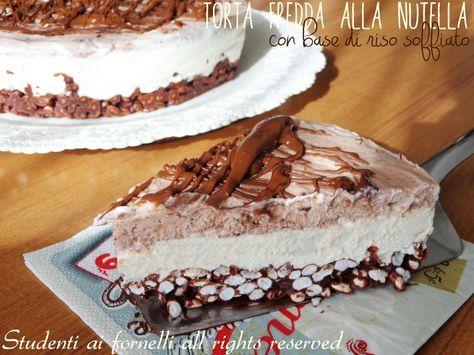 La torta fredda con riso soffiato alla nutella è un dolce freddo ideale contro il caldo estivo. Un dolce sfizioso, preparato con una base di riso soffiato.