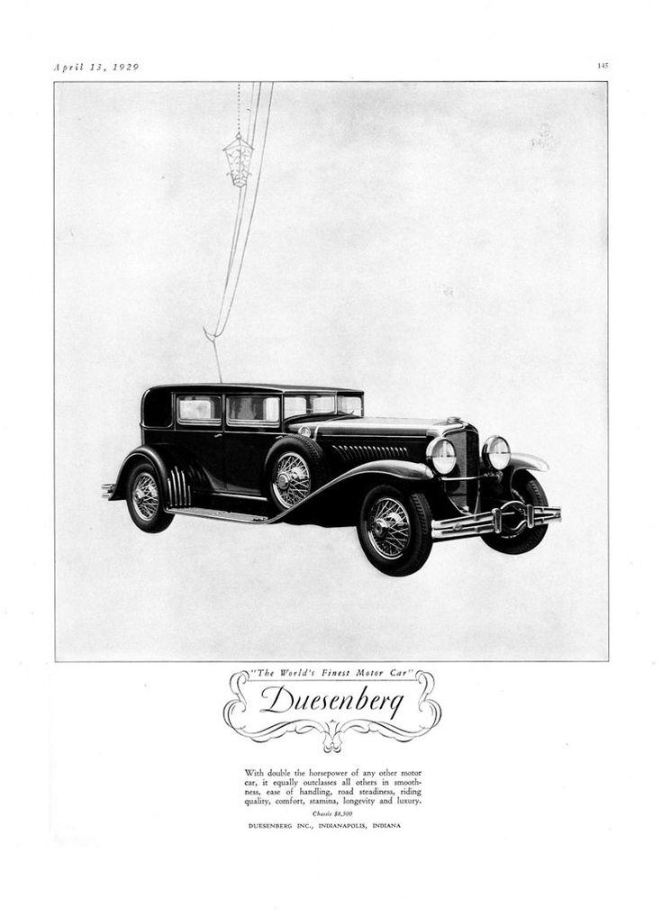 Duesenberg Ad Retro Advertisements Pinterest Ads - Interesting old cars