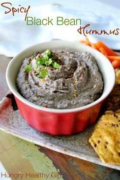 Spicy Black Bean Hummus - Hungry Healthy Girl