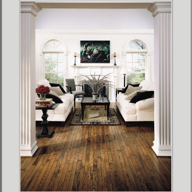 i adore the texture and pattern in this trumbull honey oak floor from bruce flooring it looks so great with dark wood and black room accents