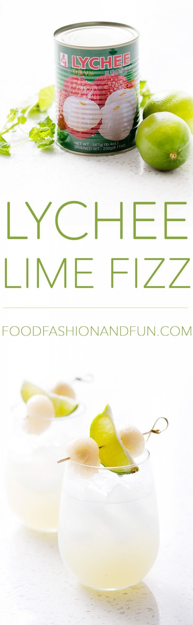My husband calls this cocktail 'The Lychee Meringue.' He said it reminds him of a meringue because it's light with subtle flavors of lychee and lime. It's really a perfect comparison. This is a lig…