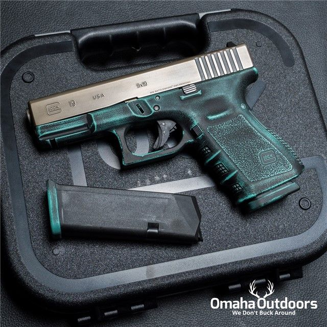 Glock 19 Gen 3 Tiffany Blue Battle Born Cerakote 9mm 15 RDS 4.02″ Handgun - Omaha Outdoors
