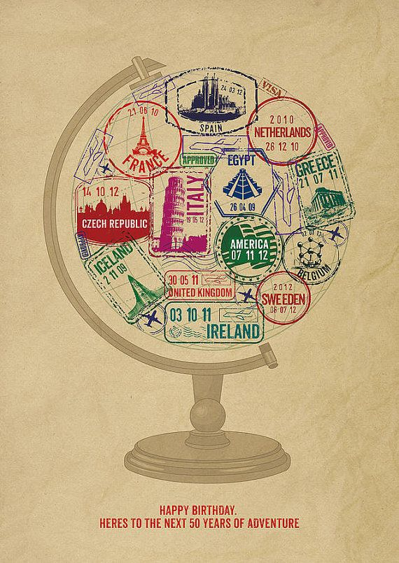 love this idea - personalized globe with destinations you've been to!