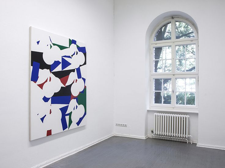 Kes Richardson Garden Paintings Installation Fold Gallery London