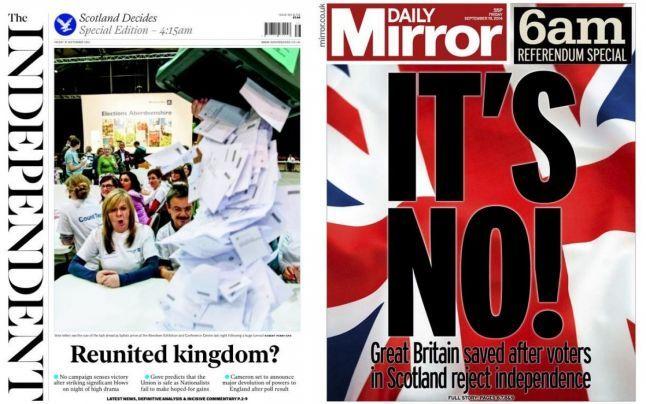 """Scoţia rămâne în Regatul Unit. Viaţa după """"NU"""". Ce schimbări aduc rezultatele referendumului"""