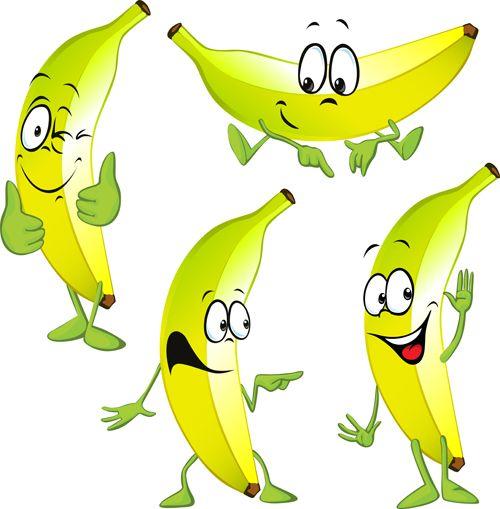 Cartoon banana characters vector material