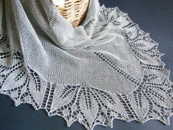 Summer Cotton Lace Shawl. Hand Knitting. Free от ShawlOlga на Etsy