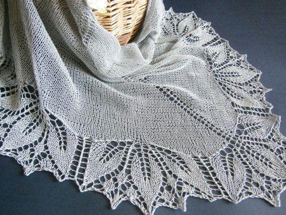 Summer Cotton Lace Shawl. Hand Knitting. Free от ShawlOlga на Etsy