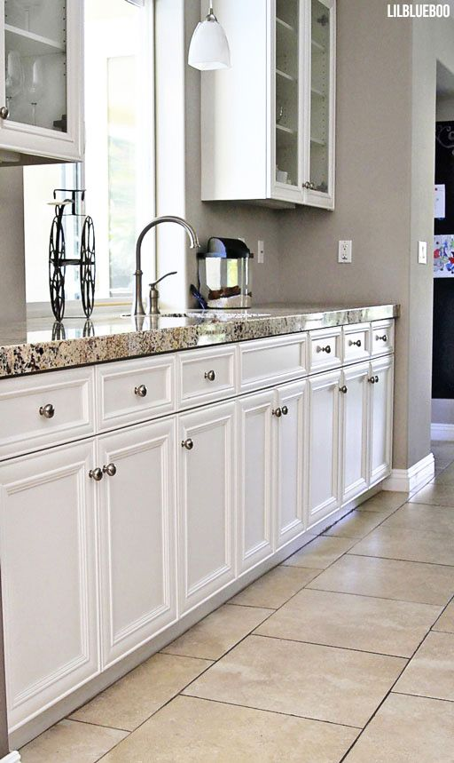 kitchen ideas the kitchen renovation makeover cabinetry and granite countertops via ashley hackshaw - Modern Kitchen Flooring Ideas