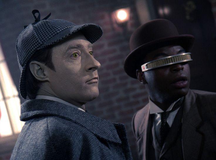 Data as Sherlock Holmes and Geordi as Doctor Watson- Star Trek TNG S2 Elementary Dear Data