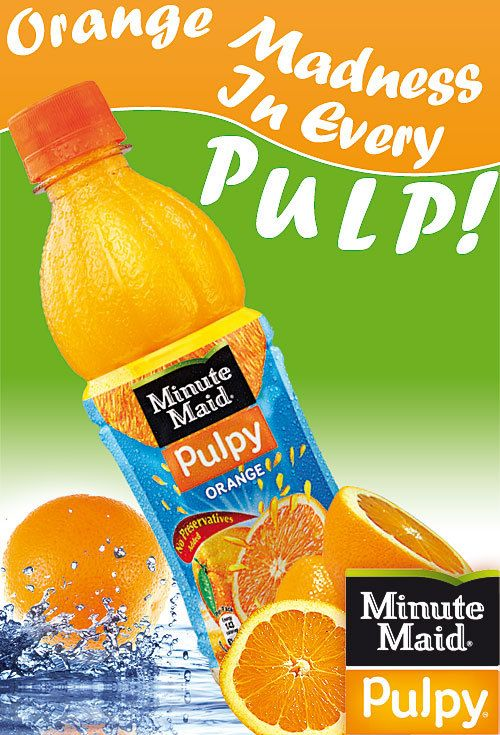 Minute Maid Orange Juice ad | Advertisement Design (Week ...