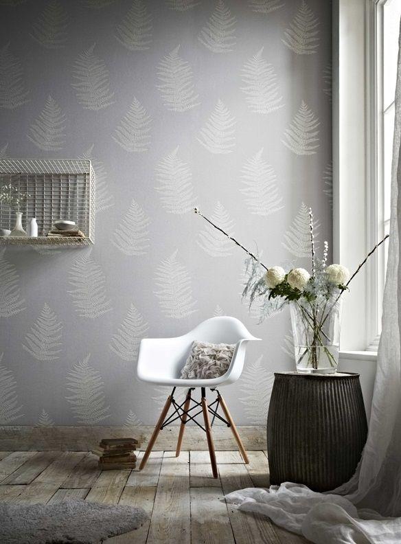 Superfresco Easy 52cm x 10m Verdant Grey Wallpaper #botanical #leaves #fern