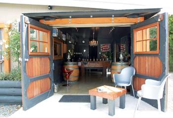 Gibson Bridge Cellar Door, Marlborough, NZ. One of the smallest cellar doors we've been to, with possibly the biggest welcome (from Julie). Pic from their website.