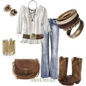 womens-outfits-16: Outfits, Fashion, Cowboy Boots, Dream Closet, Clothing, Clothes, Country Girls, Cowgirl, Styles
