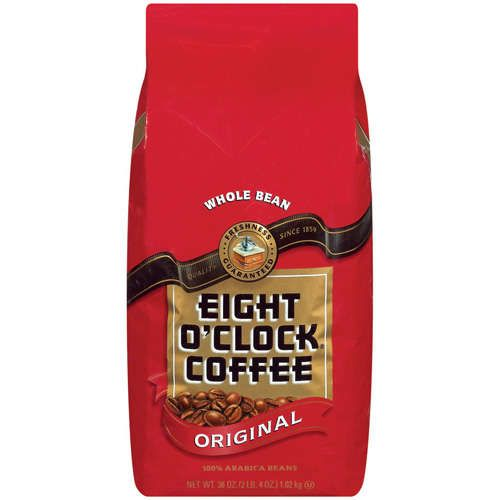 My mom cannot start her day without a cup of coffee.  Although we had many kinds in the house when I was growing up, for some reason the bright red Eight O'Clock bean coffee stands out in my mind.  I drink Mate instead, and have unsuccessfully tried to convert her.  My mom will always be a coffee drinker.