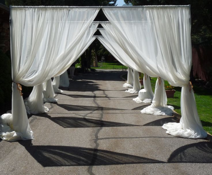 Draped Outdoor Wedding Entrance