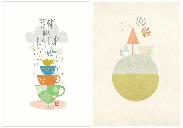 papermoon affiche poster  enfant scandinave pastel tendance