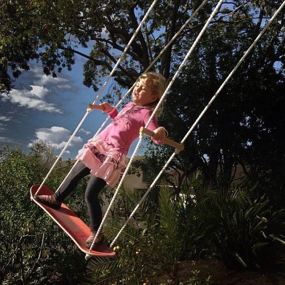 This is for a GREEN 100% Handmade Skateboard Swing (see our shop for other colors). From our yard to yours! Perfect for swingsets, tree swings etc. We