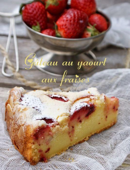 gateau yaourt aux fraises