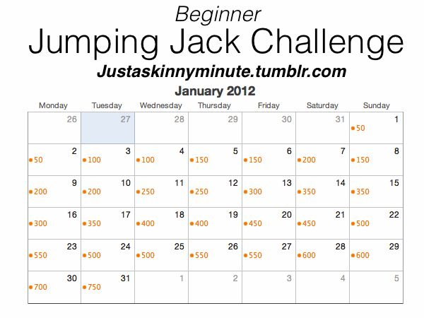Outside Beauty, Inside Health: Fitness Fridays- Jumping Jack Challenge